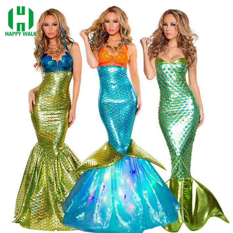 Hot Sale Women Mermaid Kostym Halloween Cosplay Mermaid Klänning Romantisk Skönhet Sea Maid Sexig Klänning Women Mermaid Fancy Dress
