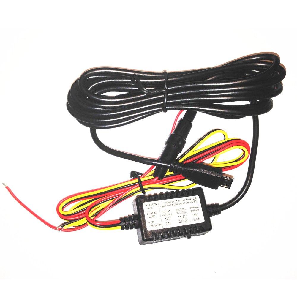 Conkim Micro USB Guardia de estacionamiento Juego de cables duros - Electrónica del Automóvil - foto 3