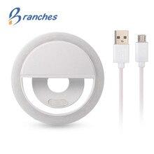 USB charge LED Selfie Ring Licht voor Iphone Aanvullende Verlichting Night Duisternis Selfie ring licht Enhancing voor Telefoon