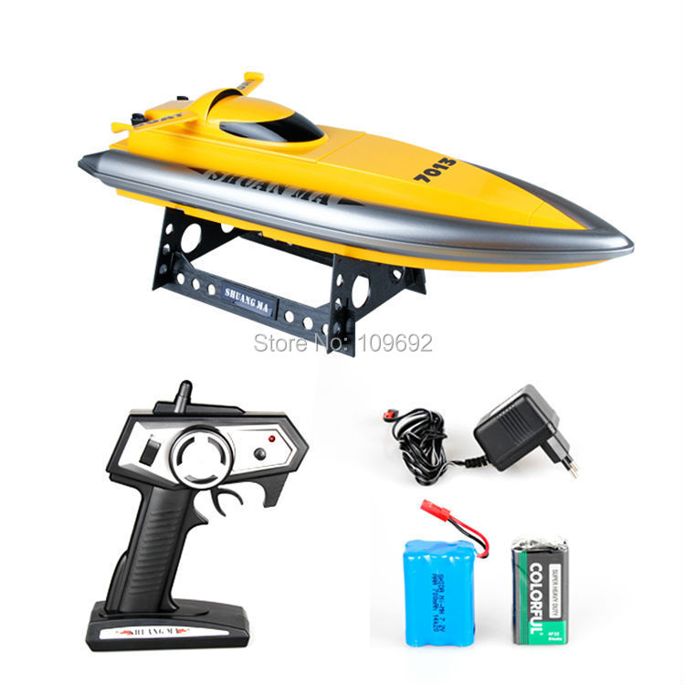 2015 new Double Horse DH7013 2.4G high-speed RC boat Speedboats Navigation model Electric remote control toys wholesale children