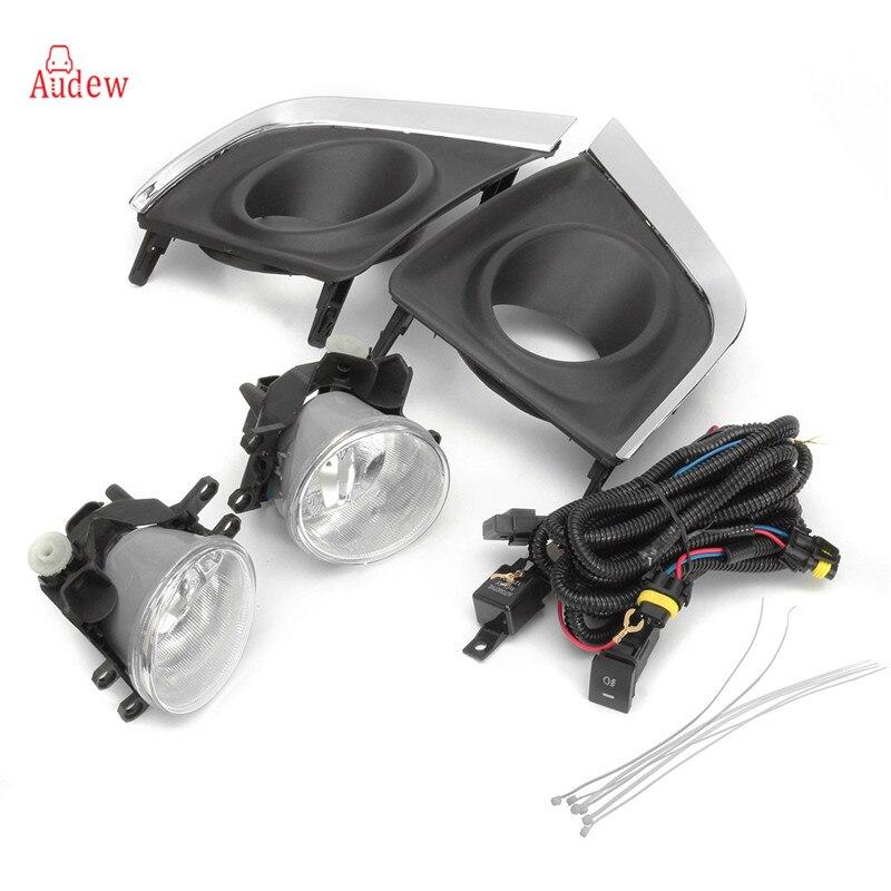 2 шт. прозрачные линзы бампер для вождения Противотуманные фары + 2 шт. H16 лампы + противотуманных фар переключатель набор для Toyota corolla 2014-2015