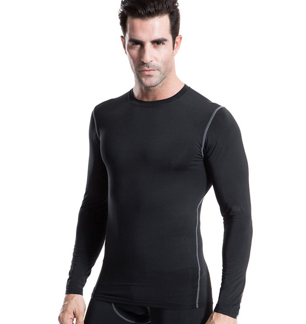 New 2016 Men Jerseys PRO Compression Body Base Layer Thermal T-Shirts Tops bodybuilding Skin Gear Quick Dry Clothes