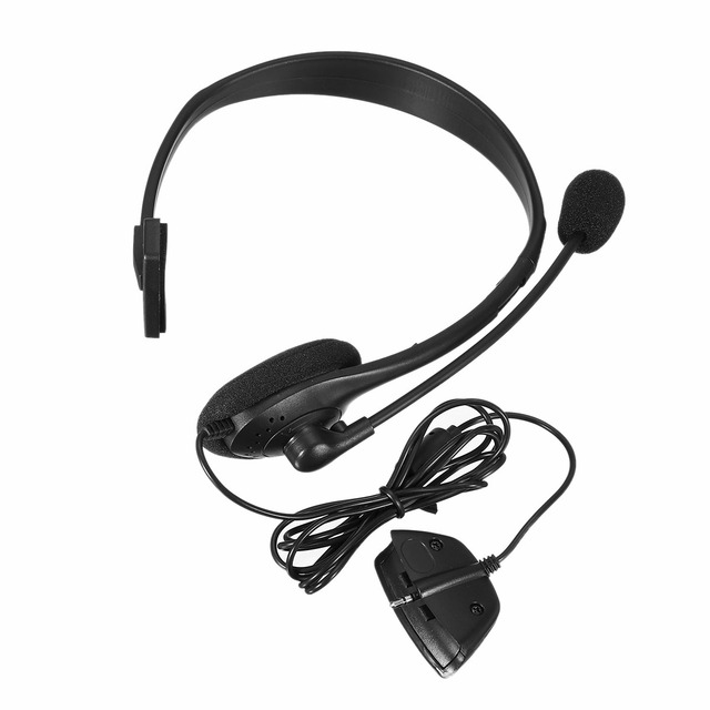 US $11 15 |2 5mm Jack Wired Earphone gaming Headphones Single Side Game  Headset Noise Cancelling with Microphone for Xbox 360-in Headphone/Headset
