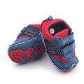 Duro Suela Bebé Hook & Loop Primer Caminante Del Niño Hecho A Mano Zapatos de Tela de Calidad de Hign
