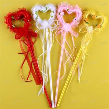 Halloween  Fairy Wand Heart Crown Shape Magic Stick Girl Party Princess Favors Cute