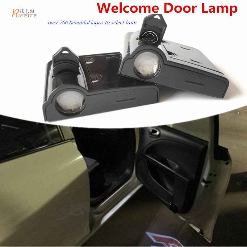 2/pcs LED car door courtesy Ghost Shadow Light lamp laser projector logo light for SEAT LEON FR FR+ CUPRA Alhambra Ibiza for most cars 2pcs led car door light courtesy logo laser projector punching ghost shadow lamp lights for cadillac logo