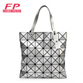 Japanese Bao Bao Bag Ladies Folded Geometric Plaid Bag 2016 Casual Women Tote Bag Shoulder Bags Pearl BaoBao Handbags With Logo