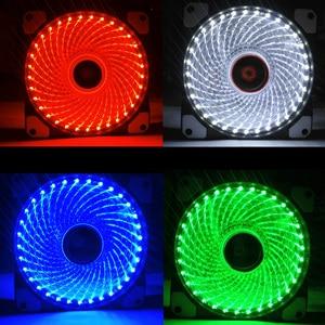 Ultra Silent 33 LEDs Cooling Fan 120mm PC Computer Case Fan Heatsink Cooler 16dB with Anti-Vibration Rubber FAN 9 Blade(China)