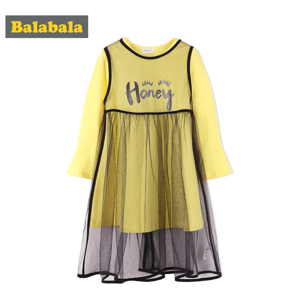 05fa73476 Balabala 2pairs/lot Mesh dress and Knee-Length t-shirt autumn clothing for