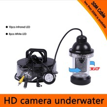 30Meters Depth 360 Degree Rotative Underwater Camera with 18pcs of White or IR LED for Fish Finder & Diving Camera Application
