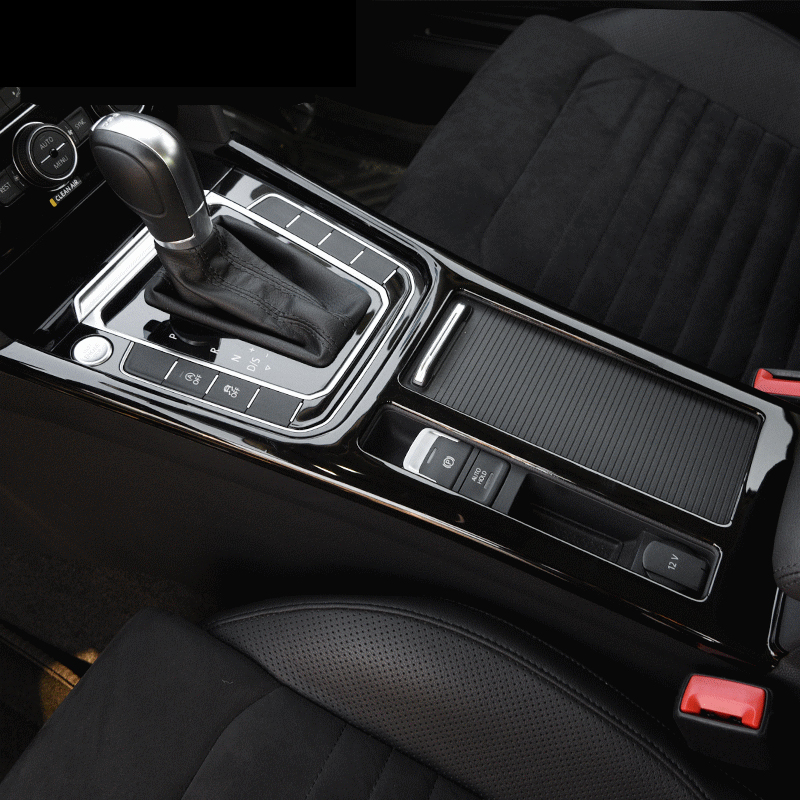 For Passat B8 chrome car stickers interior modification accessories in the control of the gear cup holder panel decorative frame
