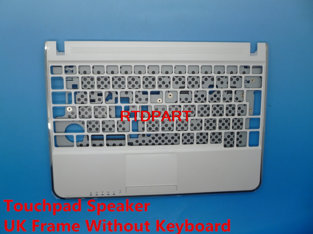 Linda Parts Wholesale store Laptop Palmrest For Samsung N210 White Touchpad Speaker France FR Spain SP Kingdom UK Keyboard BA59-02707B