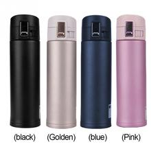 500ML Fashion Food Grade Tea Water Cup Stainless Steel + Plastic Vacuum Insulated Coffee Mug Travel Drink 23.5*6.7cm