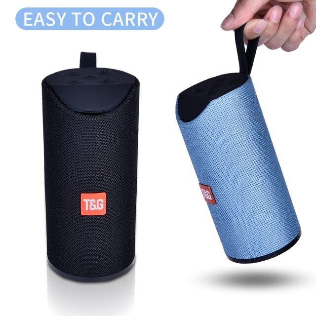 Tg Bluetooth Speaker Draagbare Outdoor Luidspreker Draadloze Mini Column 3D 10W Stereo Muziek Surround Ondersteuning Fm Tfcard Bass Box