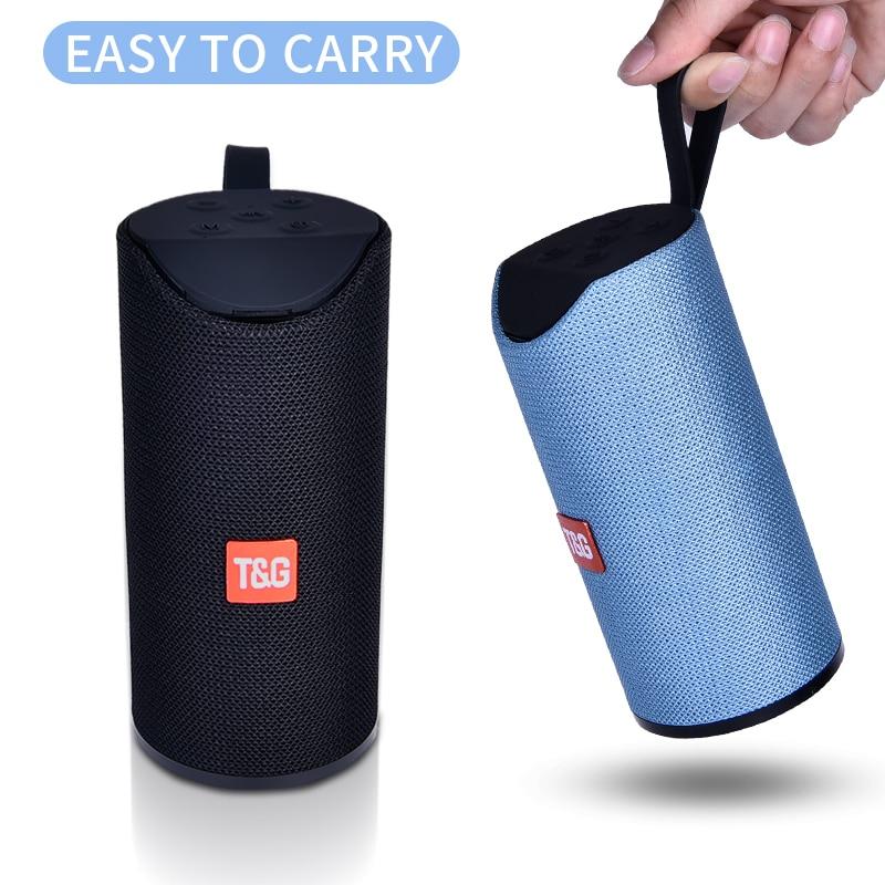 Tg alto-falante bluetooth portátil ao ar livre sem fio mini coluna 3d 10 w estéreo música surround suporte fm tfcard baixo caixa