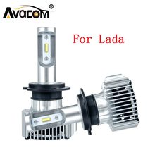 LED Car Headlight Bulb H4 H7 H11 H1 H3 9005/HB3 9006/HB4 12V 6500K For Lada GRANTA KALINA LARGUS PRIORA Niva SAMARA VESTA XRAY(China)