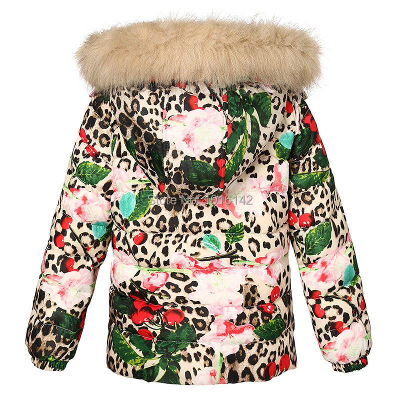 95231ea9c Kids Jackets Brand Children Outerwear European Designer Down Coats With  Hooded Fur Fashion Floral Print Warm Girls Winter Coat-in Jackets & Coats  from ...