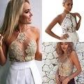 Women's Lace Floral Bralette Bralet Bra Bustier Crop Top Cami UnPadded Tank Tops Women Shine Sleeveless Crop Top