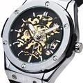 2016 new fashion men male forsining brand stylish skeleton clock rubber design classic automatic mechanical wrist sport watch