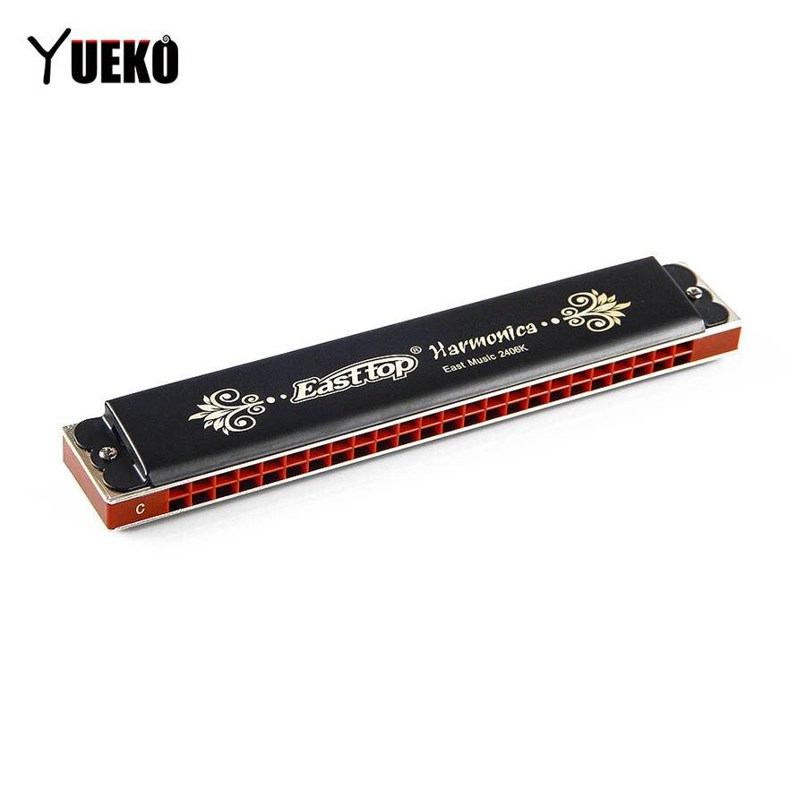 Easttop nouveau tremolo T2406K 24 trous harmonica tremolo harmonica orgue à bouche noir peinture