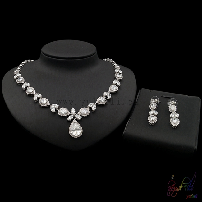 Yulaili elegant water drop shape several cubic zirconia ziron jewelry sets hot trendy in engagement for beautiful brideYulaili elegant water drop shape several cubic zirconia ziron jewelry sets hot trendy in engagement for beautiful bride