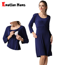 Wholesale nursing dress pregnant maternity evening dresses breastfeeding European  Winter style clothes