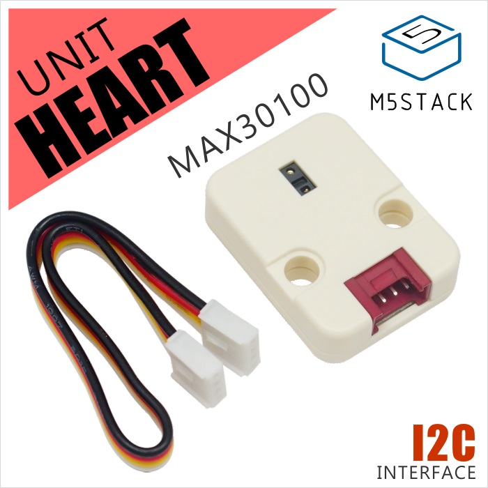 M5Stack Newest Mini Heart Rate Unit MAX30100 Module Sensor For Arduino/Low Power Heart Rate Oxygen Pulse Breakout I2C Interface