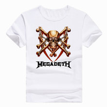 Asian Size Print Megadeth Band Heavy Metal Rock Roll Pop T-shirt Short sleeve Summer Casual O-Neck Tshirt Men And Women HCP732(China)
