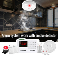 SMARSECUR Wireless GSM Alarm System 433MHz Home Burglar Security Alarm System Touch Keyboard