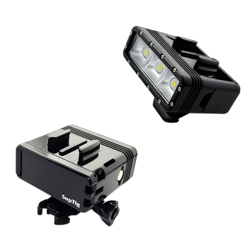 Dual Battery Diving Flash Light LED-Unterwasserlicht für Gopro Hero 7 6 5 4 Session 3 + 3 Xiaomi Yi 4K Insta 360 Zubehör