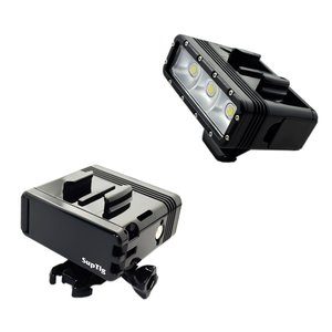 Image 1 - Dual Battery Diving Flash Light Underwater Led Fill Light For Gopro Hero8 7 6 5 4 Session 3+3 Xiaomi yi 4K Insta360 Accessories