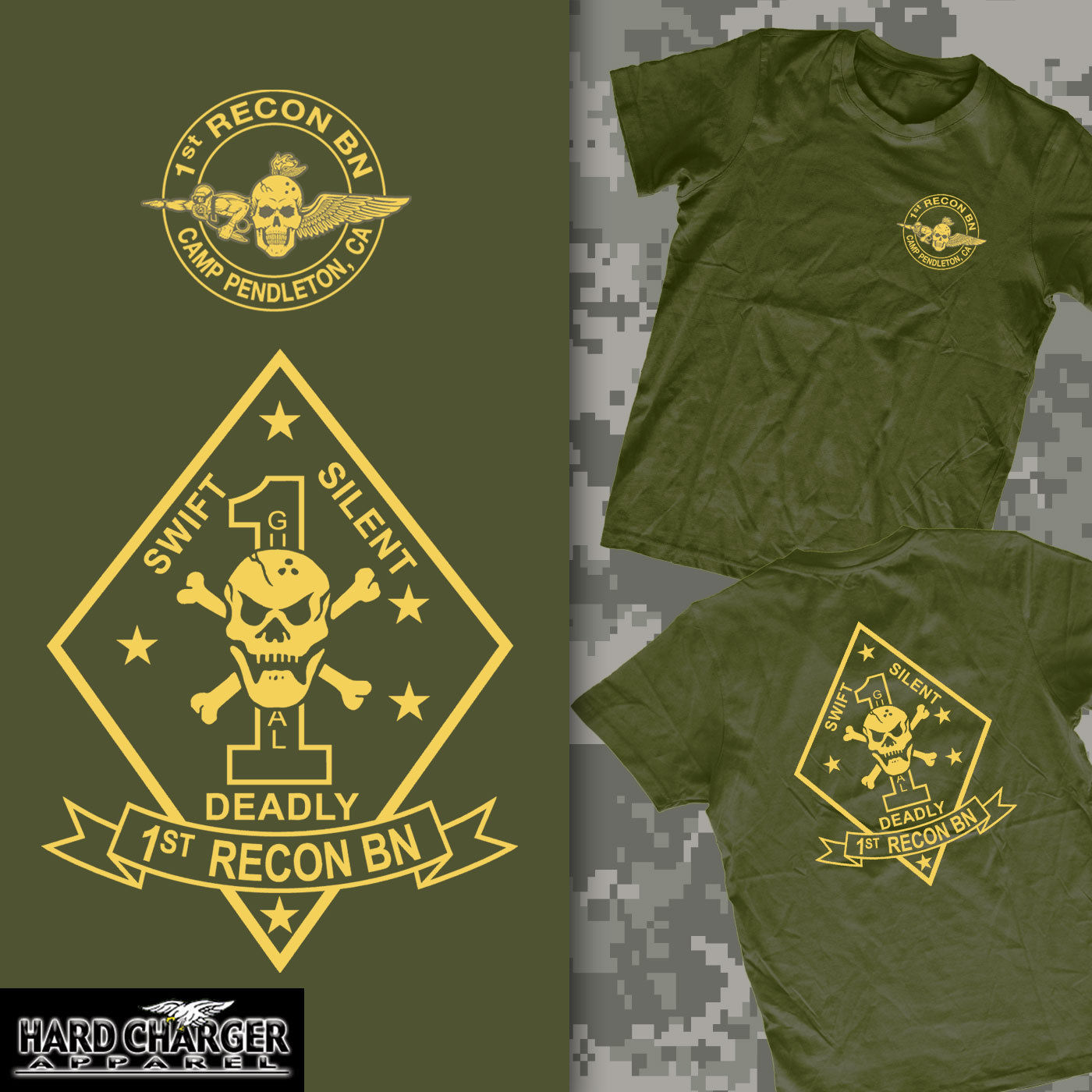 US $13 22 10% OFF|2019 Hot sale 1st Recon Battalion Marine Corps Camp  Pendleton, CA Recon Jack USMC MOTO shirt-in T-Shirts from Men's Clothing on