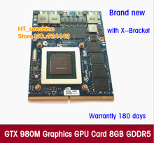 New Original GTX 980M Graphics Card GTX980M with X-Bracket N16E-GX-A1 8GB GDDR5 MXM For Dell Alienware MSI HP via free DHL/EMS