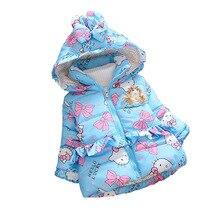 BibiCola baby girls christmas autumn winter jacket Children outerwear kids warm outfits toddler cartoon cat thicken cute coats