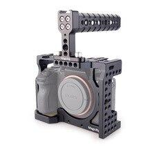 Magicrigdslr هيكل قفصي الشكل للكاميرا مع مقبض علوي لكاميرا سوني A7RIII /A7RII /A7SII /A7M3 /A7II /A7III للإفراج السريع طقم وصلة الرموش