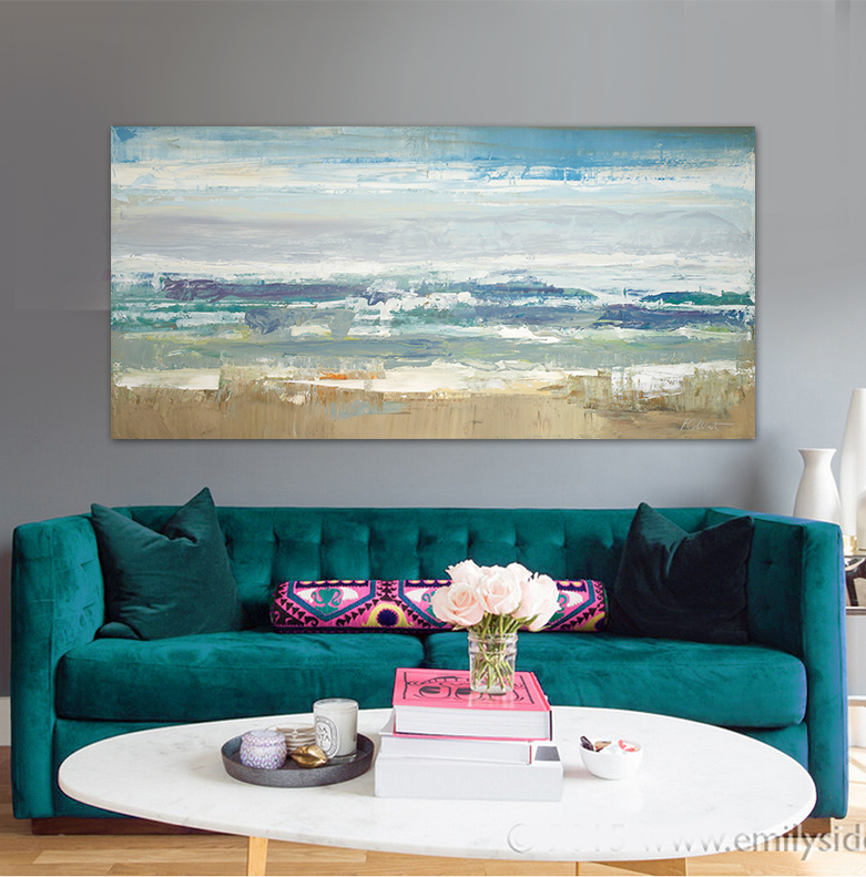 Modern abstract scenery seascape seascape oil painting for Picture wall decor
