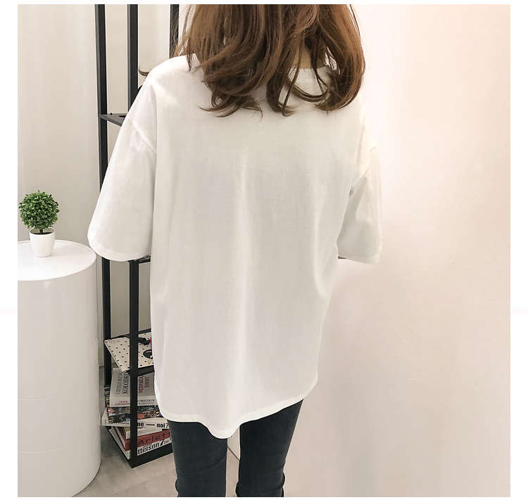 XL- 4XL 2019 new plus size summer loose High Street hole Letter print short sleeve O-Neck women T-shirt top tee TY5 22