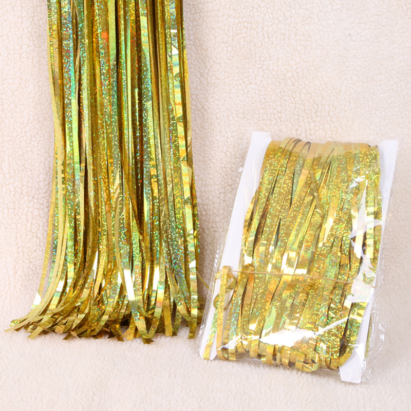 2M 3M Glitter Metallic Foil Curtain Door Rain Wedding Decoration Birthday Party Decorations Kids Photo Props Tinsel Curtain in Party Backdrops from Home Garden