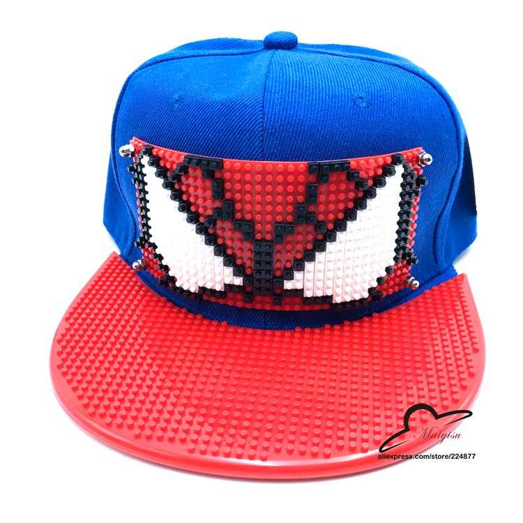 3c2c30a7581 New Arrival Spider Man Cosplay Cap red Marvel Comics Hero ladies dress Hat  charm Costume Props