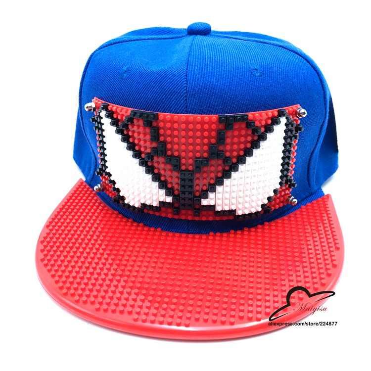 59e384c491d New Arrival Spider Man Cosplay Cap red Marvel Comics Hero ladies dress Hat  charm Costume Props