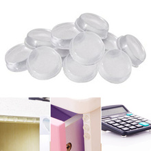 Nordic Rubber Bumper Damper Feet Pads Cylindrical EVA Silicone 64pcs Cupboard Transparent Furniture Legs Self Adhesive