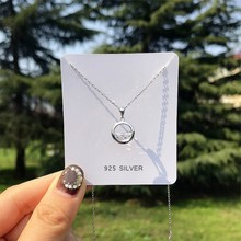 Clavicle Chain Fresh Simple Student Forest Gift 925 Sterling Silver Temperament Personality Fashion Female Necklace SNE053(China)