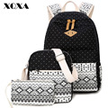XQXA Canvas Women Backpack for School Teenagers Girls Vintage Stylish Ladies Bag Backpacks Female Dotted Printing Mochila 3 pics