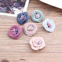 Ücretsiz Kargo 30 Adet/grup 22 MM Süet Kumaş Çiçekler Craft Kız Saç Takı Bandı Konfeksiyon Ayakkabı Süs Aksesuarları Malzeme