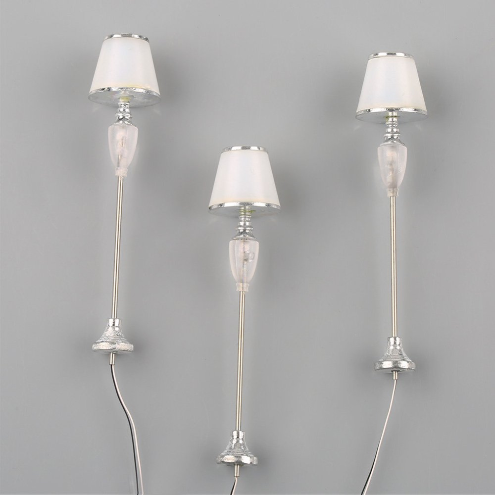 5Pcs 1:20 Scale Model Sliver LED Floor Lamp Model Living Room Layout LDD2-2 ...
