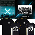 2016 Time-limited Real Letter Casual Jersey No Cotton Monsta X Kpop Hoodie Source Motoaki I.m Men And Women Clothes T-shirt