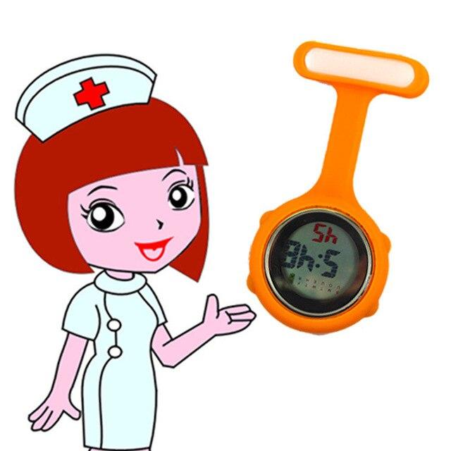 New Digital Medico Del Silicone Di Orologi Risvolto Dottore Brooch Dell'infermie