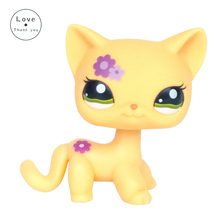 pet shop lps toys Original Cat 1962 Orange Short Hair kitty Lovely Animal For Girls Free