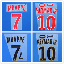 1819 New New PSG DANI ALVES T.SILVA VERRATTI DI MARIA MBAPPE DRAXLER CAVANI NEYMAR JR number font print, Hot stamping patches ba(China)