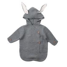 Baby Sleeping Bag Knitted Bunny Newborn